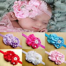 Flower Pearl Headband Hair Bow Band  Hair Accessories For Newborn Baby Girl Kid
