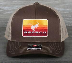 Retro Ford Bronco Patch on Richardson 112 Trucker Snapback Hat