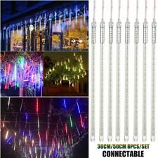 192/288LEDs Meteor Shower Snowfall Rain LED Strip Christmas Party Outdoor Lights