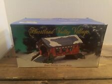 O'well 1999 Heartland Valley Village Deluxe Porcelain Covered Bridge in Box