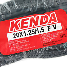 x2 KENDA 20 x1.25/1.5 (30mm) F/V French Presta Valve Folding Bike 406 Tube Tire