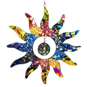 Colorful Sun Wall Art Decor Hanging Sun Statues for Indoor and Garden Decoration