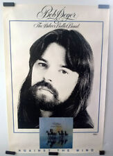 BOB SEGER & THE SILVER BULLET BAND, AGAINST THE WIND_ORIGINAL 1980 PROMO POSTER