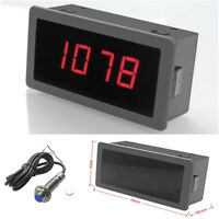 DC 8-24V 4 Digital Motor Red LED Tachometer RPM Speed Measure Gauge Meter Tester
