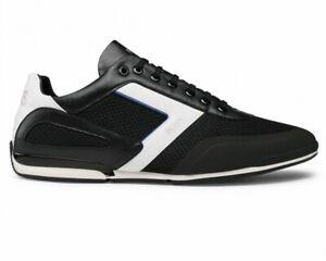Hugo Boss Saturn Lowp Me 50445677 001 Mens Trainers Black Shoes Sneakers