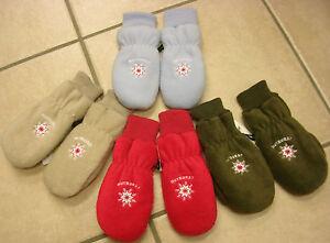 Baby-Handschuhe, Fäustlinge, Fleece, grün,rot, hellblauoder beige. Neu!!