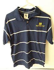 Joe College Notre Dame Fighting Irish Short Sleeve Polo Shirt size Large L