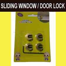 Baby Child Safe Safety Security Sliding Window Door Lock 4pcs