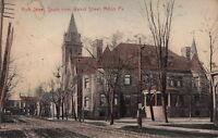 Postcard Arch Street from Walnut Street Milton PA