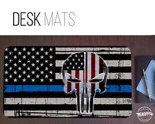 Thin Blue Line Punisher Desk Mat - Police Desk Mat