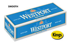 20 Cartons Westport Smooth King Cigarette Filter Tubes Blue (4 Sleeves)