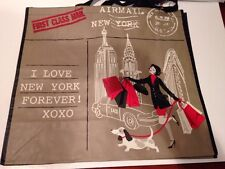 T J MAXX Shopping Bag I LOVE NEW YORK Tote Reusable  XL SHOPPING DOG 5TH AVENUE