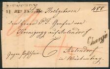 Bayern, R.-Brief Zweizeiler München 1869-Grafen v. Koenigsegg auf Aulendorf,top