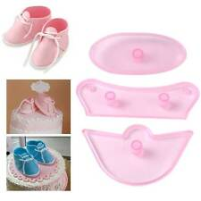 Baby Shoes Birthday Cake Decorating Mold Fondant Icing Sugar Craft Cutter Tools