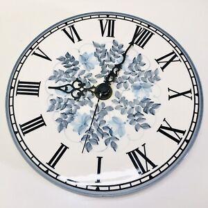 Signed Vintage Jersey Studio Pottery Hand Painted Ceramic Kitchen Quartz Clock