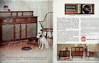 1962 2 PAGE ORIGINAL VINTAGE RCA VICTOR PHONOGRAPH MAGAZINE AD