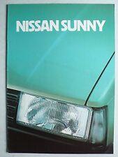 Prospekt Nissan Sunny, 6.1982, 20 Seiten