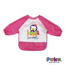 PUKU Long Sleeved Cloth Bib Pink
