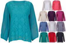 Chiffon Machine Washable Floral Plus Size Tops & Blouses for Women