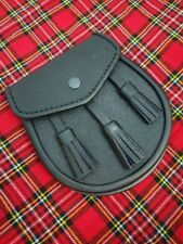 Scottish Kilt Sporran Semi Dress Black Leather/Kilt Sporrans/kilt pins/kilt