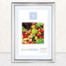 A4 Cadre Photo Certificat Mur & Bureau Montable Argent No Noir