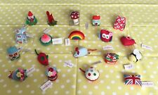 More details for rare and beautiful collection of 19 vintage cath kidston pin cushions all bnwt