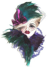 Unique Creations Lady Face Mask Wall Hanging Decor 5105