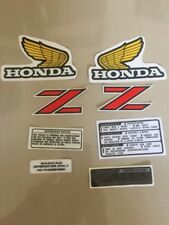 Vintage Honda Z50 Z50r Decal Kit Gas Fuel Tank Monkey Bike Mini Trail