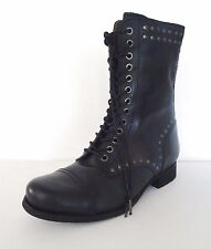 Women Diesel The Wild Land Arthik Lace Up Combat Boots Sz 6 36 EUR M Black $295