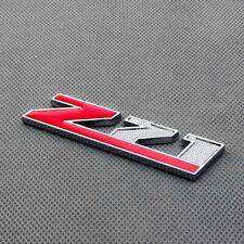 Red Coated Metal Z71 Side Fender Chrome Emblem Badge Sticker for Silverado Tahoe