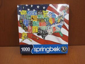 Springbok State Plates 1000 Piece Jigsaw Puzzle New & Sealed