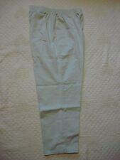 Womens 18 White Stag Light Khaki Pull-On Slacks 29' Inseam