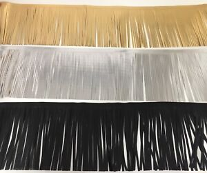 1 METRE FAUX LEATHER FRINGING TRIM, 15cm WIDE, AVAILABLE IN 3 COLOUR