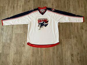 REEBOK SPRINGFIELD FALCONS AHL 2010 WHITE HOCKEY JERSEY-NWOT-XL