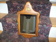 Vintage / Antique Eagle Wall Mirror, Solid Maple Wood.