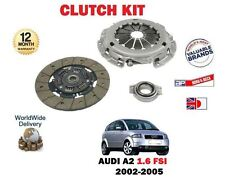 FOR AUDI A2 1.6 FSI 110BHP BAD ENGINE 2002-> NEW CLUTCH PLATE COVER BEARING KIT