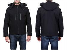 NWT Tahari Waterproof Hipster Detachable Hood Jacket BLACK SZ L