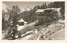Cafe Bergkristall bei Oberstdorf, Oberallgäu im Winter, alte Foto-Ak von 1938