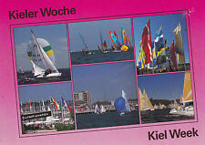 1997 MULTI VIEWS OF SAILING CRAFT COLOUR POSTCARD CANCELLED KIEL WEEK GERMANY