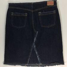 3d984b188 GUESS Womens Vintage 90's Jeans Modest Boho Shredded Frayed Jean Skirt Size  32