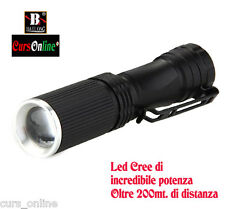 Mini Torcia Luce Led Cree Tascabile da 5000W + Zoom + Batteria + Caricabatterie