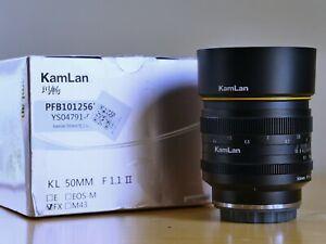 Kamlan 50mm f1.1 II - Monture Fuji X