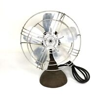 The Torrington Mfg Co. Oscillating Cage Fan Tabletop MCM Vintage 50s 60s Working