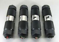 HUBBELL 50A 250V 3Ø 4 Wire TWIST LOCK PLUG PAIRS CS-8365L & CS-8364L LOT OF 4