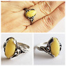 Amber RING Natural BUTTERSCOTCH Royal White 925 STERLING SILVER 2.8 gr RING 8