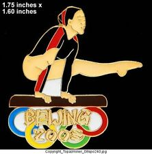 OLYMPIC PIN BEIJING 2008 SPORT GYMNASTICS LE GOLD 1/100