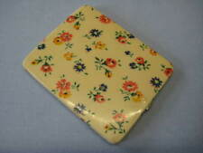 VINTAGE FLORAL CELLULOID COATED  POWDER COMPACT