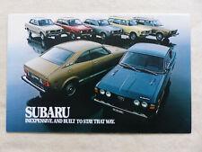 Subaru 1978 GF DL Station Wagon Coupe 2-Door 4-Door - US-Prospekt Brochure USA