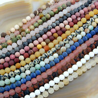Wholesale Matte Natural Gemstone Frosted Round Loose Beads Diy Jewelry Design