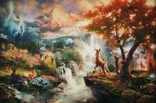 Thomas Kinkade Disney's Dreams Collection Bambi's First Year A/P  Paper Print